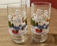 Vintage Set Of 2 Pepsi Winter Glasses.