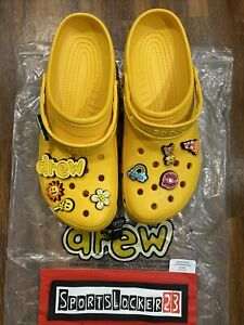🔥🎶🔥Justin Bieber Drew Classic Crocs Collab. Mens Size 12 - IN HAND New 🔥🎶🔥