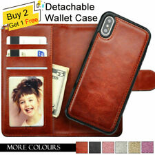 Leather Magnetic Removable Card Wallet Flip Case For iPhone 7 8 Plus XS Max XR 6