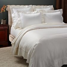 Frette Essentials Doppio Ajour Cotton KING Duvet Cover IVORY Bedding $1050 C1097