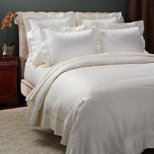 Frette Essentials Doppio Ajour Cotton KING Duvet Cover IVORY Bedding $1050 C1097