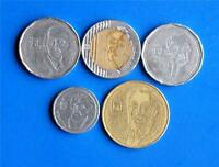 Israel Special Issue New Sheqel Complete Set 5 Coins