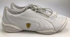 Men's 10.5 - PUMA Ferrari Motorsports White Leather Lace Up Uni Driving Shoes