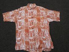 Men's Vtg NOA NOA Aloha Hawaiian Button Up Shirt 100% Rayon Handmade Large L