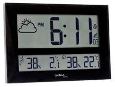 Technoline Horloge murale Radio-pilotée Montre Funky WS 8011 XXL Température