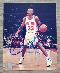 Grant Hill Signed 8x10 Photo Detroit Pistons NBA HOF LEGEND RAD
