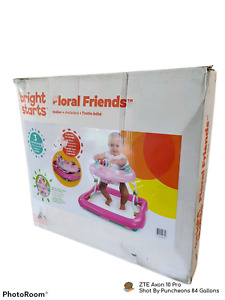 BRIGHT STARTS Floral Friends Walker with Easy Fold Frame Ages 6 Months +