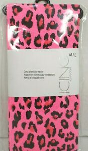 Icing Girls Pink Black Animal Print Leotards Pantyhose M/L By Claires