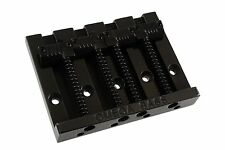 BADASS Leo Quan Allparts Omega grooved saddles Black 4 Fender P/Jazz bass bridge