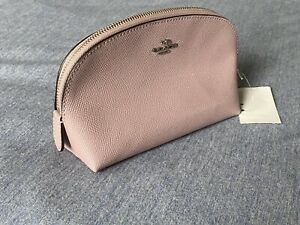 COACH -  Leather Cosmetic Case  -  Light Tan/Pink  -  (F52697)  -  NEW WITH TAGS