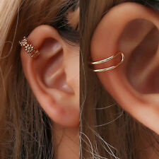 Fashion Women Fake Earring Cross  Cuff Wrap Alloy  Simple  Stud Hoop Ear Clip