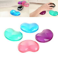 Heart Shape Silicon Mouse Pad Soft Wristband Mat Wrist Pad For Desktop Computer