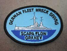 Scapa Flow Orkney German Fleet Wreck Diving Cloth Patch Badge (L6K)