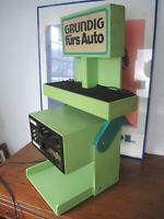 Roboter Grundig Autoradio AS Vorführbox Oldtimer Design. 70er Jahre.!!!