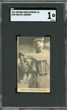 1921 E253 Oxford Confectionery- Walter Johnson - Washington Senators -HOF- SGC 1