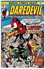 DAREDEVIL #129 (FN+) MAN-BULL Cover Story Appearance! KQQL Bronze-Age Comic 1976
