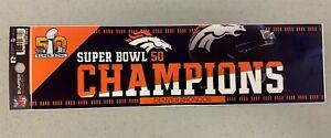 Super Bowl 50 Denver Broncos Champs Vibrant NFL Car Bumper Sticker Decor Decal