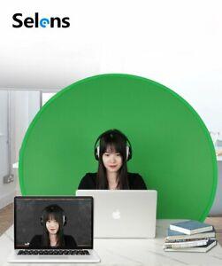 130cm Portable Green Screen Webcam Round Background Green Chromakey w/ Big Shot