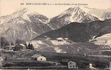 CPA 66 MONT LOUIS LE CLOS CERDAN ET LES PYRENEES