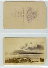 E. Behles, Naples Eruption du Vésuve CDV vintage albumen carte de visite,  Tir