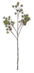 Premier Decorations 64 cm Frosted Green Pine Spray