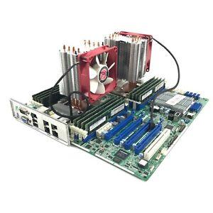 ASROCK EP2C602-4L/D16 Motherboard 2 x Intel Xeon E5-2650 @ 2.00GHz 128GB DDR3