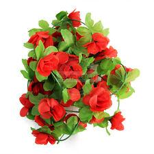 2.3M Artificial Rose Flower Ivy Leaf Wedding Garland Plants Fake Foliage Vine 04
