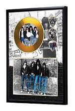 Ramones Gold CD, Autograph & Plectrum Display Punk/Iggy/Stooges