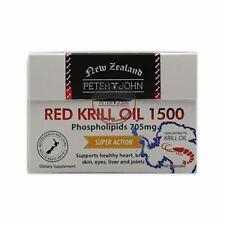 PETER & JOHN NEW ZEALAND RED KRILL OIL 1500 60capsules