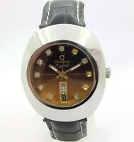 VINTAGE MEN'S OMAX CRYSTAL AUTOMATIC 25 JEWELS DAY & DATE WORKING WRIST WATCH
