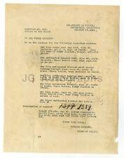 Crime Notice - Sacramento, California - List of Stolen Clothes - 1921