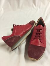 Freeman Plat EASY JOGGER RED  Men's Leather Boot  SNEAKERS  Size 10.5 EUR 43.5