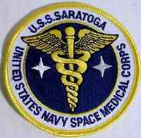 """Space Above & Beyond USS Saratoga Medical   3.5."""" Patch- USA Mailed  (SABPA-09)"""