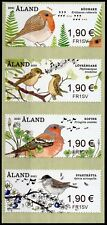 More details for aland birds on stamps 2021 mnh songbirds robin warblers finches 4v s/a atm label