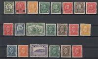 Y4632/ CANADA – 1931 / 1933 MINT SEMI MODERN LOT – CV 465 $