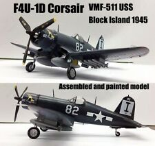 WWII US F4U-1D Corsair VMF-511 Block Island 1945 1/72 finished plane Easy model