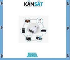 Cargador Adaptador USB 4 salidas de coche para iPhone Samsung 2.1A Max 12/24v
