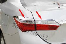 4pcs Chrome Rear Taillight Lamp Cover Trim For 2014 2015 2016 Toyota Corolla