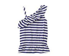 Gymboree Hop n Roll Blue White Striped Shirt Size 4 NWT