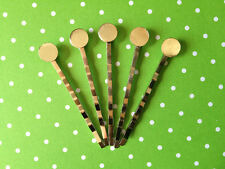 50 x silver bobby pins with glue pad