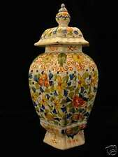 Antique DELFT vase w/cover 19th century marked