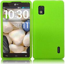 AT&T LG Optimus G E970 Rubber SILICONE Soft Gel Skin Case Phone Cover Neon Green