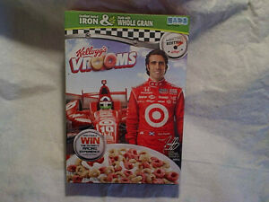 2012 KELLOGG'S VROOMS DARIO FRANCHITTI CEREAL BOX,Empty,limited editon,indy 500