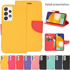For Samsung Galaxy S21 Ultra S20 A72 A52 A12 Leather Card Slot Wallet Case Cover