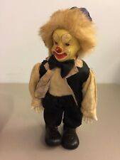 CREEPY SCARY ANTIQUE CLOWN DOLL - use as IT Halloween Prop - some damage