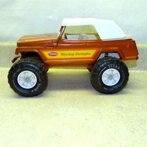 Vintage Tonka Stump Jumper, Jeepster, Truck Pressed Steel Toy, Bronze