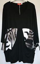 Shirt schwarz weiß Gr.52/54 Marke Luft Viskose Red.30%