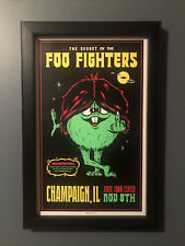 Professionally Framed Foo Fighters Champaign, Il Concert Poster