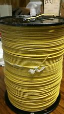 2,000 FT FIBER GLASS BRAID APPLIANCE WIRE 19AWG (NEW) Yellow R60-7261A