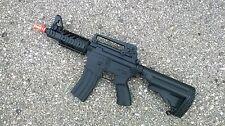 well d3809 m16 cqb stubby electric airsoft gun full auto assault rifle fps-300,
